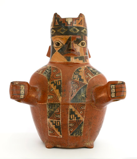 Wari pottery, god of the two staffs
