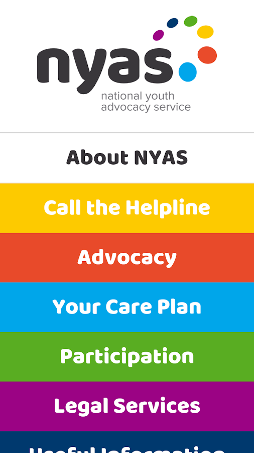 NYAS Advocacy App- screenshot