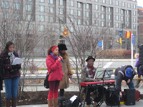 Photo: The Young Performers Theater Camp Choir kicks off Winterfest in Sister Cities Park