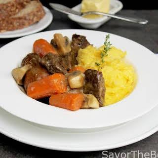 Lamb Stew with Garlic Polenta.