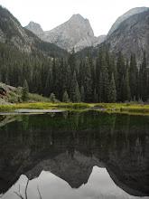 Photo: Vestal Peak and beaver ponds.