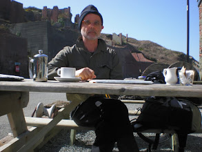 Photo: From St David's to Abercastle (Coffee break at Porthgain)