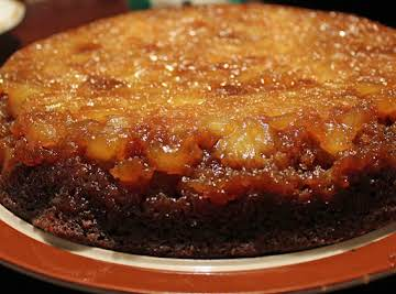 Gingerbread Pineapple Upsidedown Cake