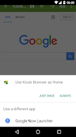 Screenshot of Kiosk Browser Lockdown