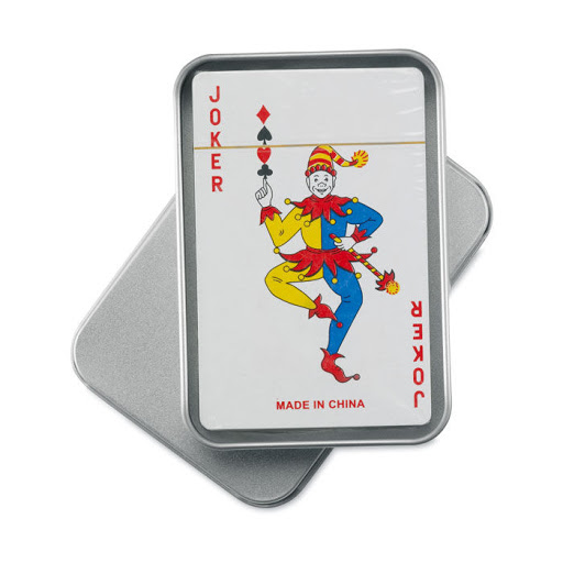 Playing Cards in a Tin