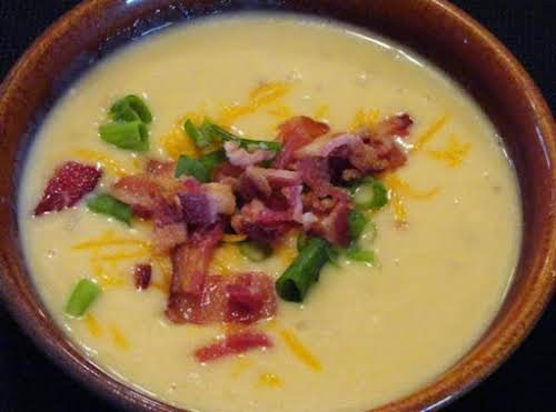 "Potato Bacon Soup ""Great soup! My family loves it. Made it last..."