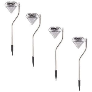 Set 4 x Lampa solara diamant pentru gradina