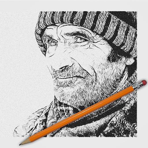 Magic Pencil Sketch Effect Icon