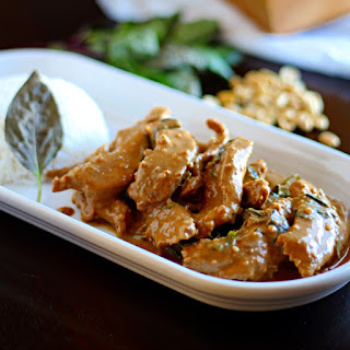 Peanut Panang Beef Curry.