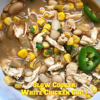 Slow Cooker White Chicken Chili.