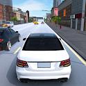 Car racing driving simulator 2021 highway traffic icon