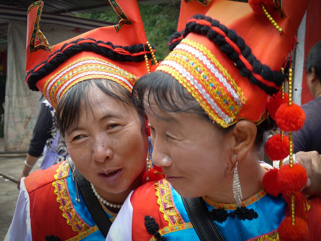 Performers at the Shaxi Singing Festival - Shibaoshan Shaxi Yunnan China (photo Kevin Kelly)