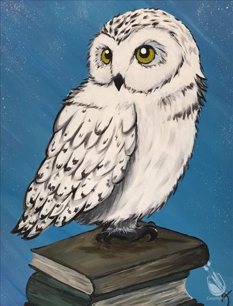 Owl Book Painting