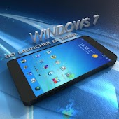 Blue Windows 7 GoLauncher Free