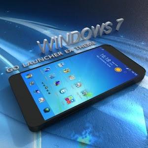 Blue Windows 7 GoLauncher Free