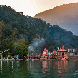 Nainital lake  by Arindam Patra - City,  Street & Park  Vistas ( greenery, sunset, temple, lake )
