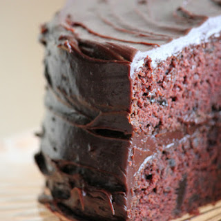 Super-Moist Chocolate Cake With Chocolate-Cinnamon Mousse.