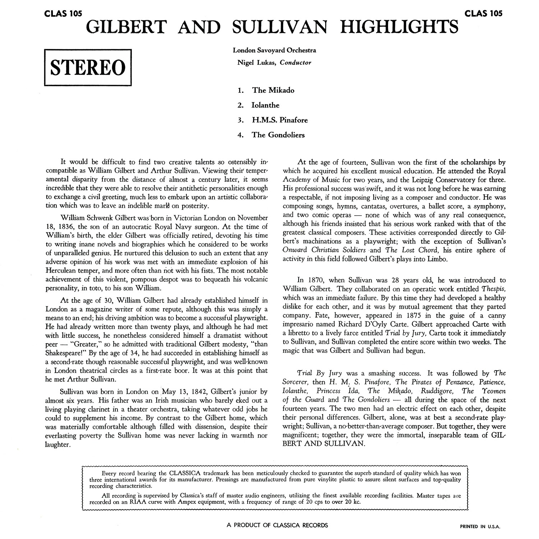 Nigel Lukas, Gilbert & Sullivan