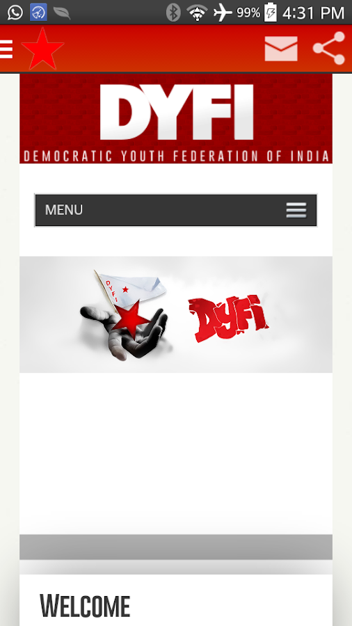 DYFI News- screenshot