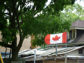 Photo: Day 44 London ON to Brantford ON Aug 2 2013 Many farm homes flying canadian flag
