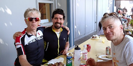 Photo: Carl Sanders (right) 2nd overall, Max Mehech (center) 3rd overall, and Cal Erdman (left) 4th overall - 2014 CTC Stage Race