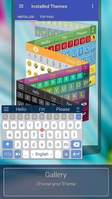 ai.type Free Emoji Keyboard screenshots