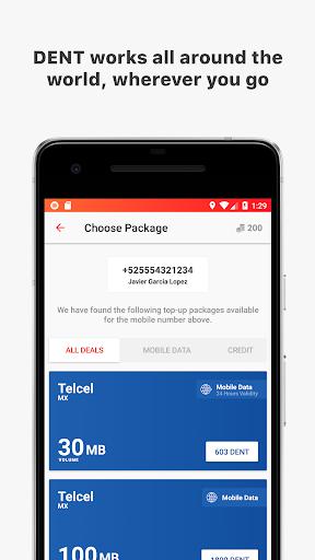 DENT - Send mobile data top-up 1.3.3 app 4