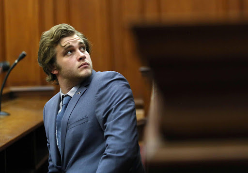 Henri van Breda at the start of Day 6 of his murder trial. Picture Credit: Esa Alexander