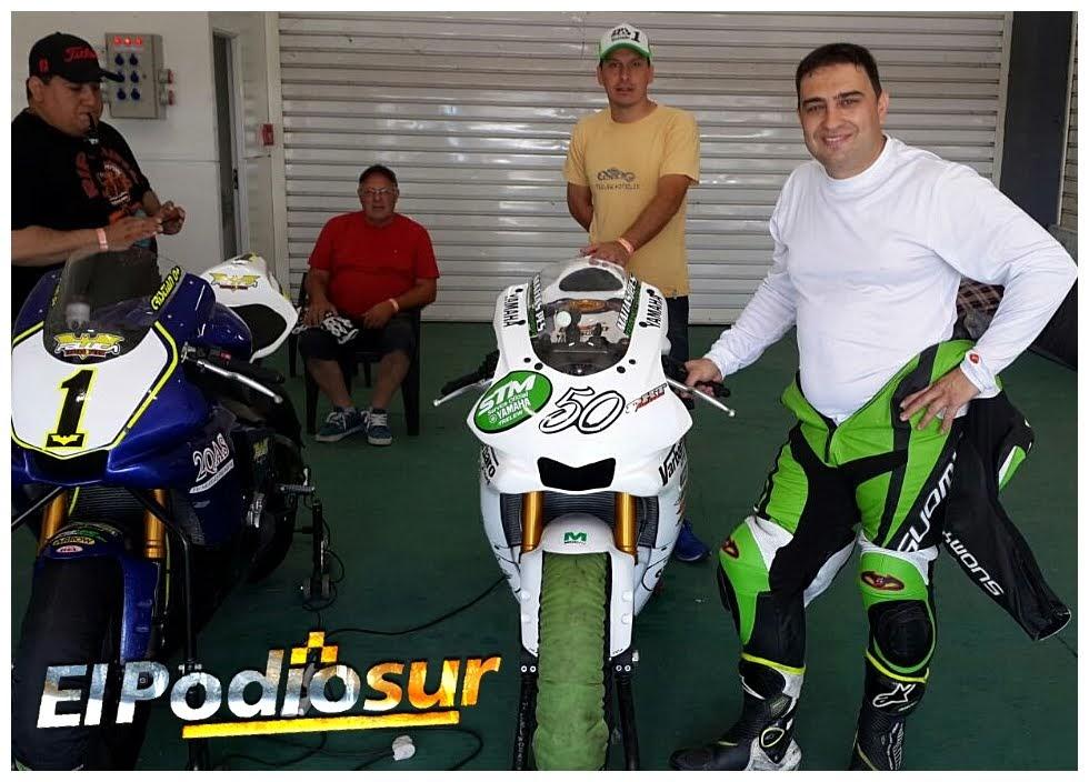 Matías Pes en el box de Termas de Rio Hondo.