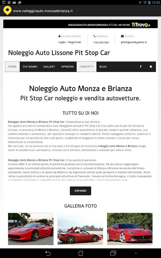 Noleggio auto Monza e Brianza - Android Apps on Google Play