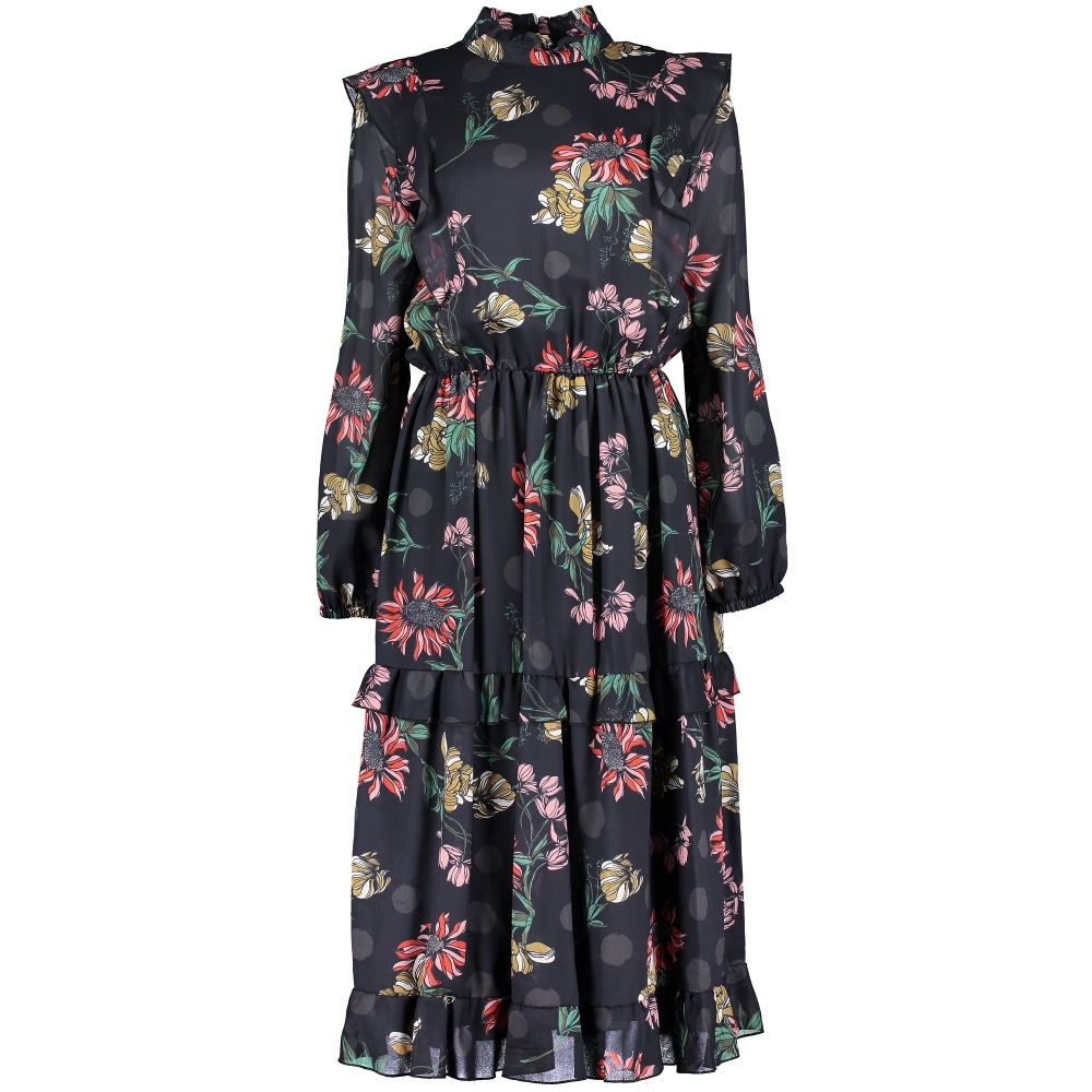 BOSS CASUAL Amoreh Winter Flowers Dress
