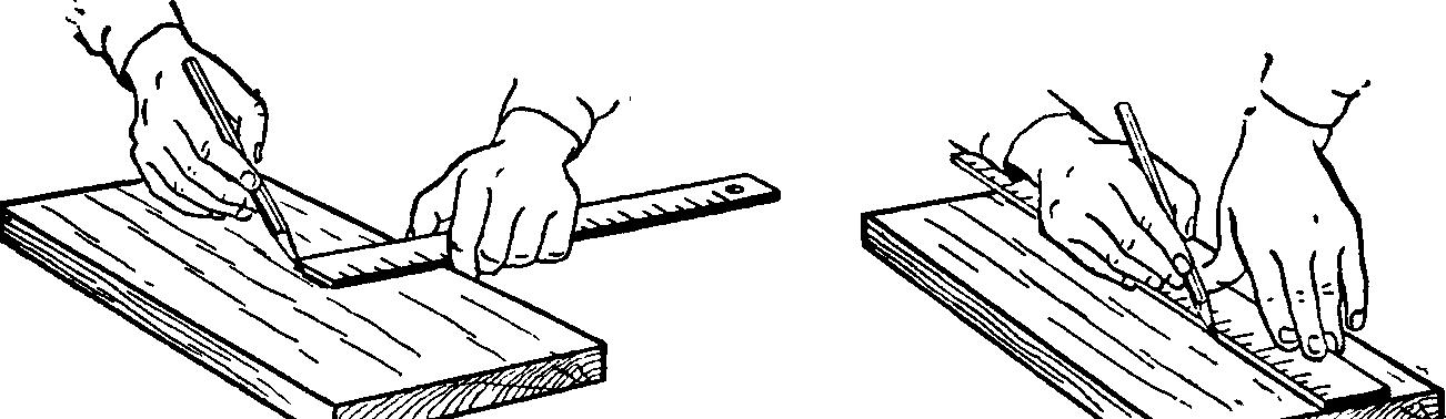 Перенос размеров на деревянное полотно