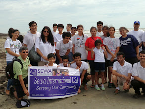 Photo: Sewa International Houston after Galveston Beach Cleanup at Sewa Day 2014