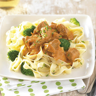 Paprika Pork with Tagliatelle