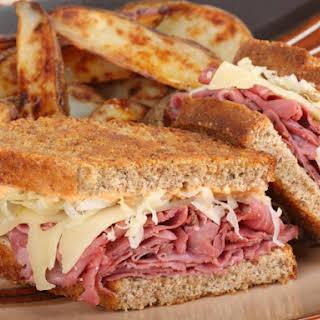 Oven Grilled Reuben Sandwiches.