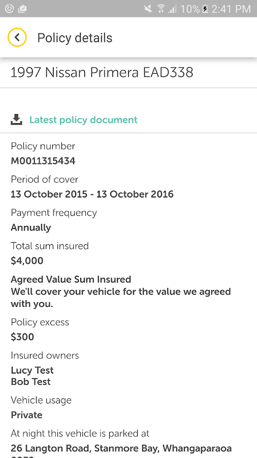 AMI Insurance- screenshot