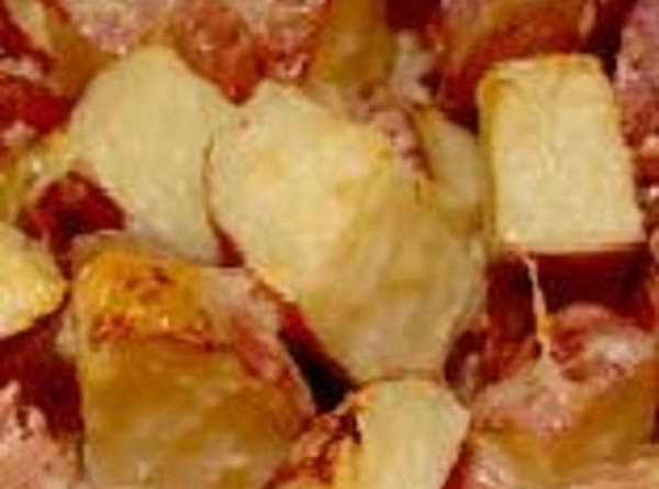 Garlic Roasted Potatoes With Parmesan Cheese Recipe