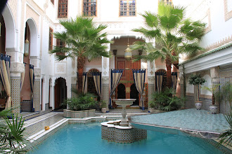 Photo: The courtyard of the intercultural house in Fes
