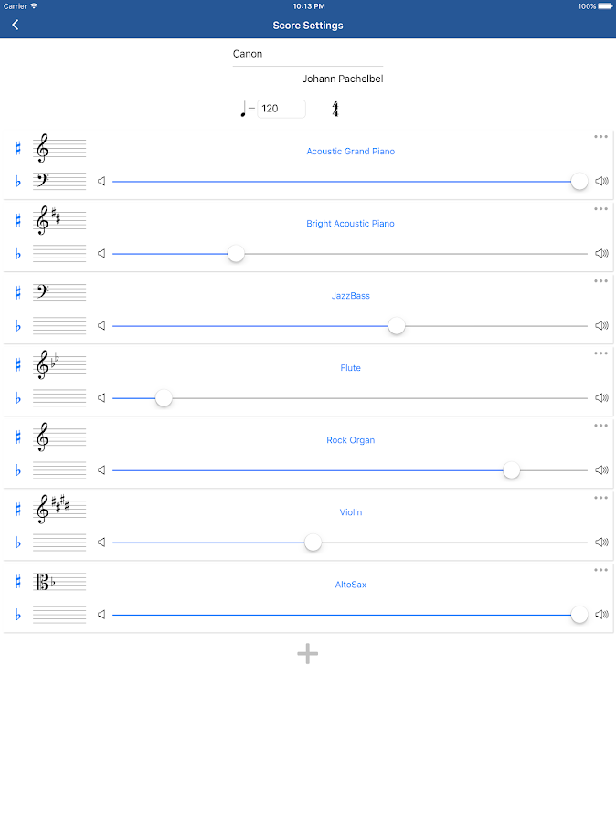 Music score writing android programs