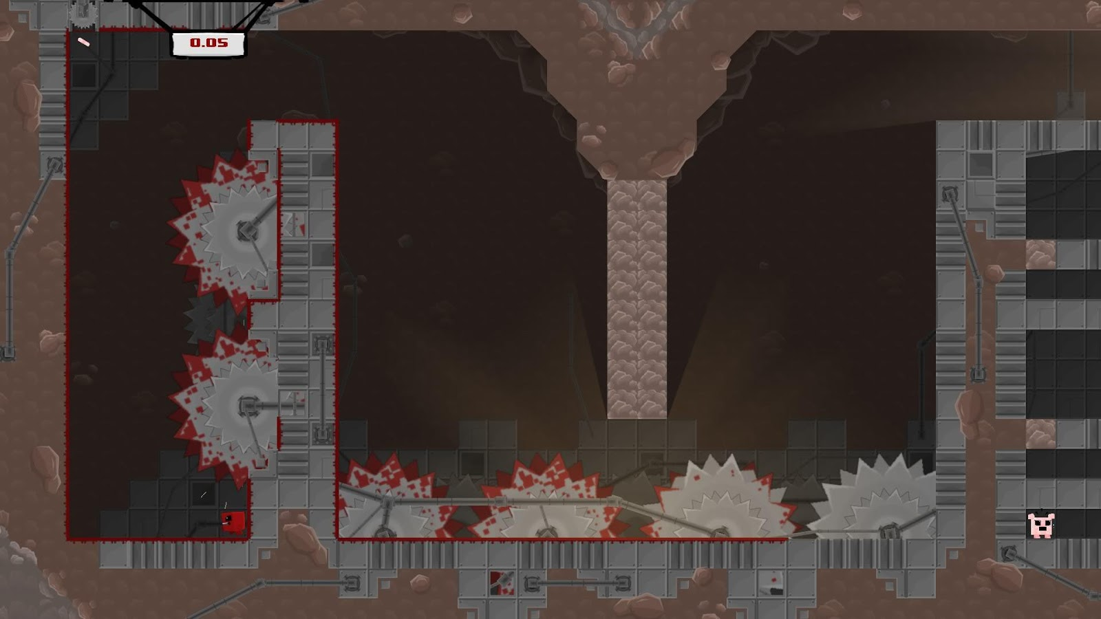 Super Meat Boy- screenshot