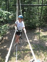 Photo: Burma Bridge High Ropes Course at Camp Toccoa
