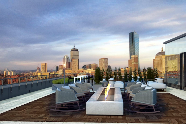 Rooftop deck Global Luxury Suites in South End