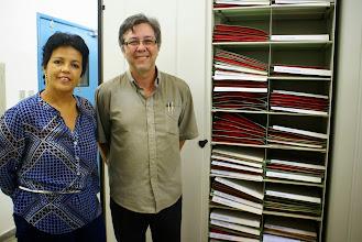 Photo: Teo Nunes, bióloga responsável e Luciano Paganucci, curador do HUEFS.
