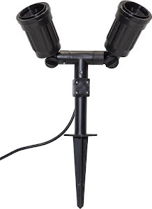 Star Trading Utomhusdekoration Outdoor Spotlight Fixture Svart