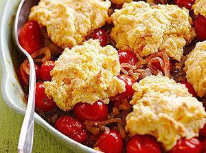 Cheddar Tomato Cobbler Recipe