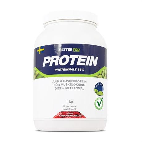 Better You Ärt och Havre Protein 1kg - Jordgubb Hallon