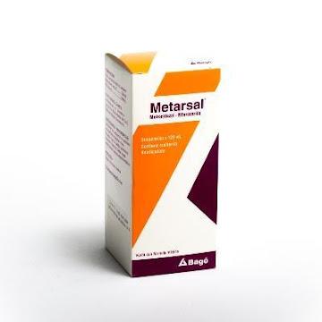 Metronidazol + Nifuroxazida Metarsal Suspensión Frasco x 120Ml. Bagó