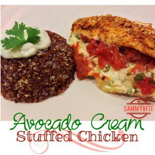 Avocado Cream Stuffed Chicken