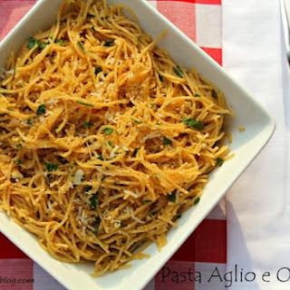 Whole Wheat Pasta Aglio e Olio.