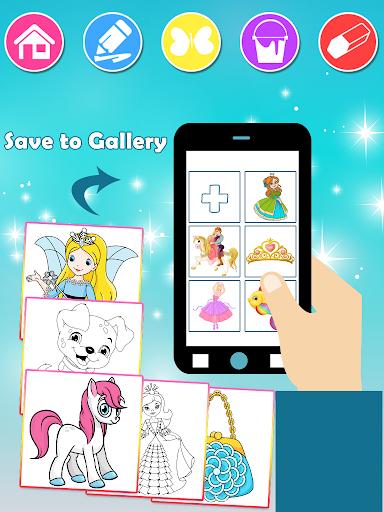 Princess Coloring Book 2 android2mod screenshots 6